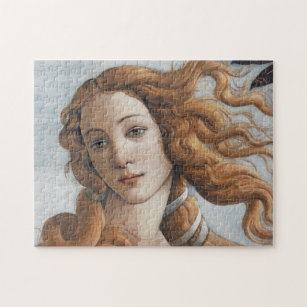 Birth of Venus close up by Sandro Botticelli Jigsaw Puzzle