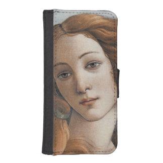 Birth of Venus close up by Sandro Botticelli Phone Wallets