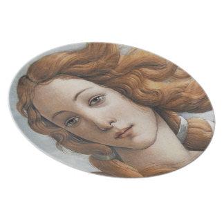 Birth of Venus close up by Sandro Botticelli Plate