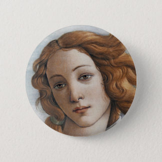 Birth of Venus close up head Button