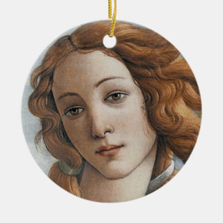 Birth of Venus close up head Ceramic Ornament