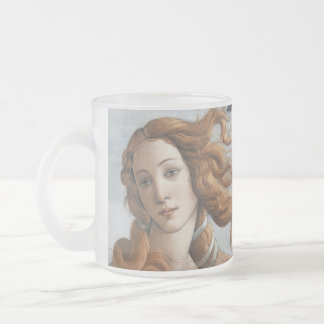 Birth of Venus close up head Frosted Glass Coffee Mug