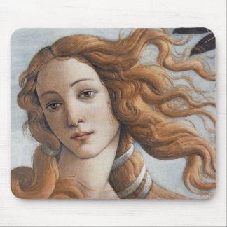 Birth of Venus close up head Mouse Pad