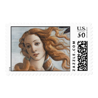 Birth of Venus close up head Postage