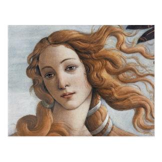 Birth of Venus close up head Postcard