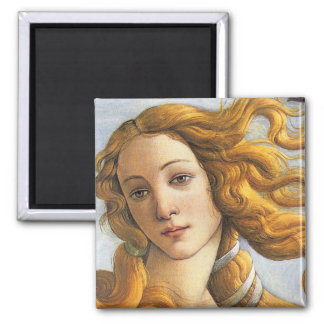Birth of Venus detail, Botticelli 2 Inch Square Magnet