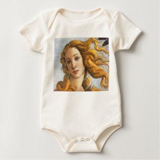Birth of Venus detail, Botticelli Baby Bodysuit