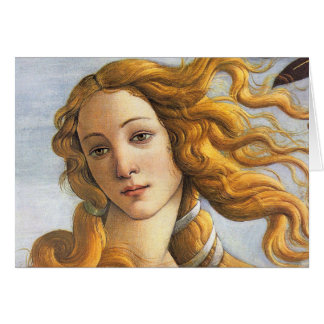Birth of Venus detail, Botticelli Card