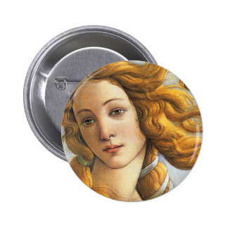 Birth of Venus detail, Botticelli Pinback Button