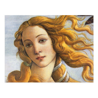 Birth of Venus detail, Botticelli Postcard