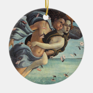 Birth of Venus, Detail - Mythological Couple Ceramic Ornament