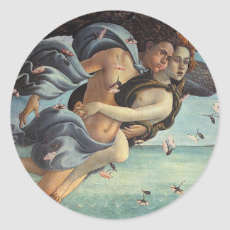 Birth of Venus, Detail - Mythological Couple Classic Round Sticker