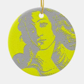 Birth of Venus Goddess Ceramic Ornament