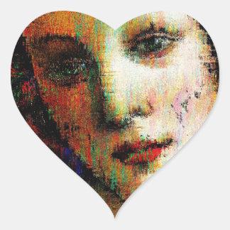 Birth Of Venus Heart Sticker