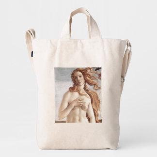Birth of Venus in detail by Sandro Botticelli Duck Bag
