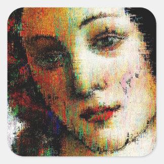 Birth Of Venus Square Sticker