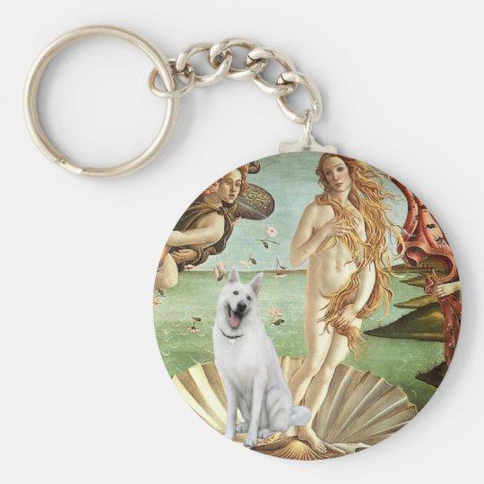 Birth of Venus-White German Shepherd Keychain