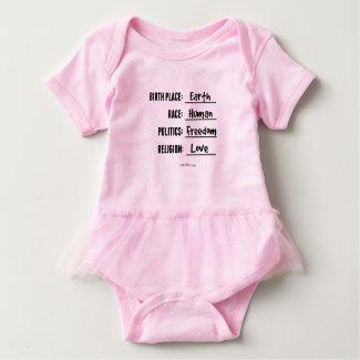 BIRTH PLACE EARTH RUFFLE TUTU BABY BODYSUIT