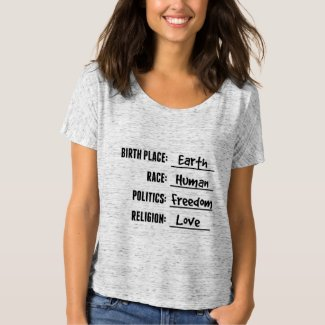 BIRTH PLACE EARTH SHIRT