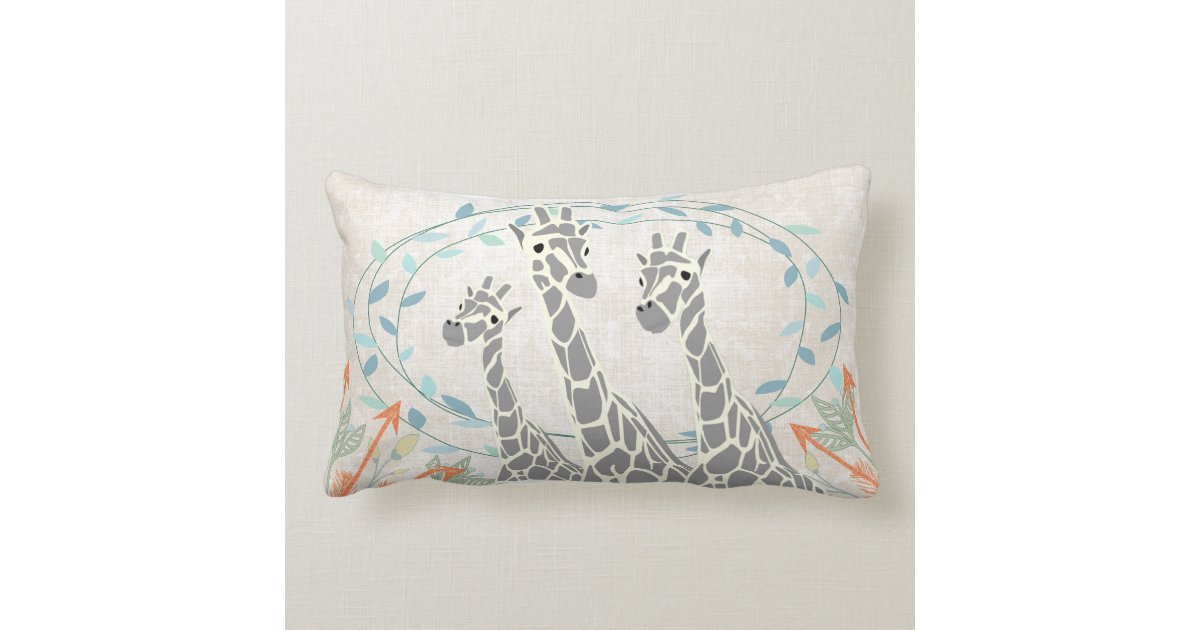 Throw Pillows Lagos : Birth Stats Baby Boy Jungle Creatures Giraffe Throw Pillow Zazzle