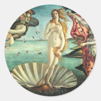Birth Venus Botticelli Classic Round Sticker