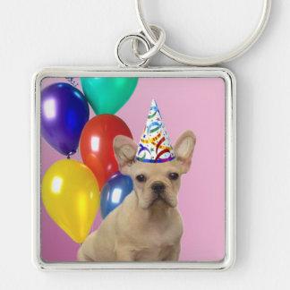 Birthay French Bulldog Keychain