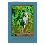 Birthday, 100th, Great Blue Heron Greeting Cards