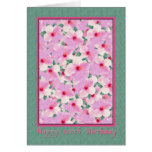 Birthday, 100th, Pink Hibiscus Flowers Card