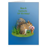 Birthday, 10th, Squirrel With Ice Cream Cone Cards