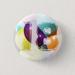 Birthday 18 button