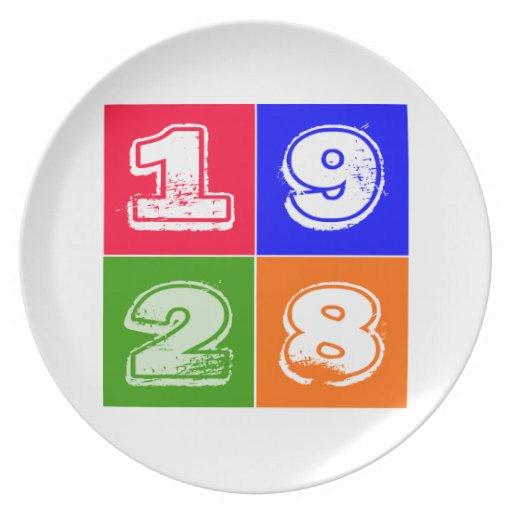 Birthday 1928 plates