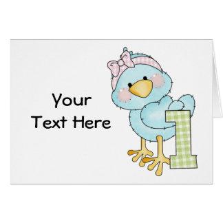 Birthday 1 Year Bird (customizable) Card