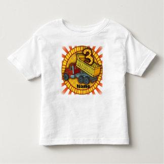 Birthday 3 Dump Truck Toddler T-shirt