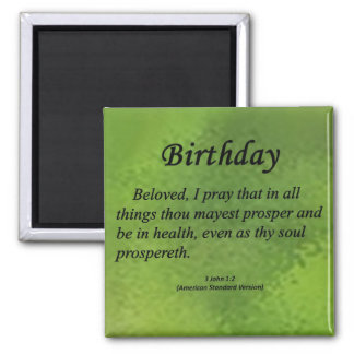 Birthday 3 John 1-2 Magnet