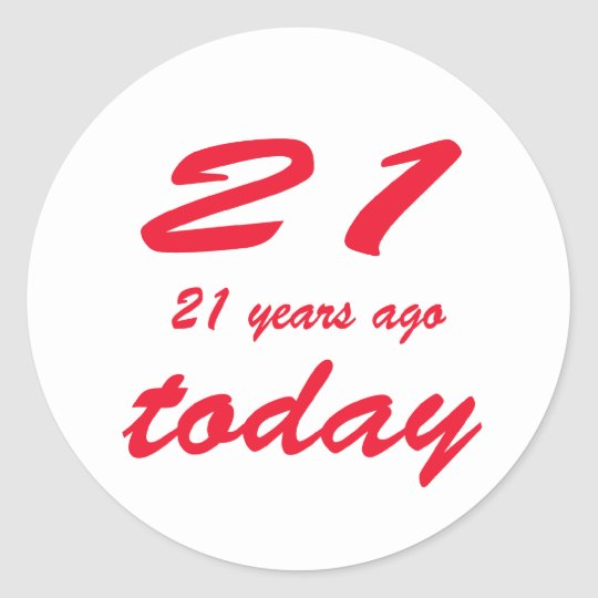 birthday 42nd classic round sticker