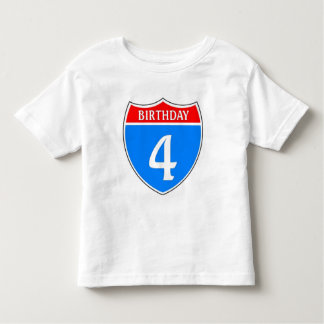 Birthday #4 toddler t-shirt