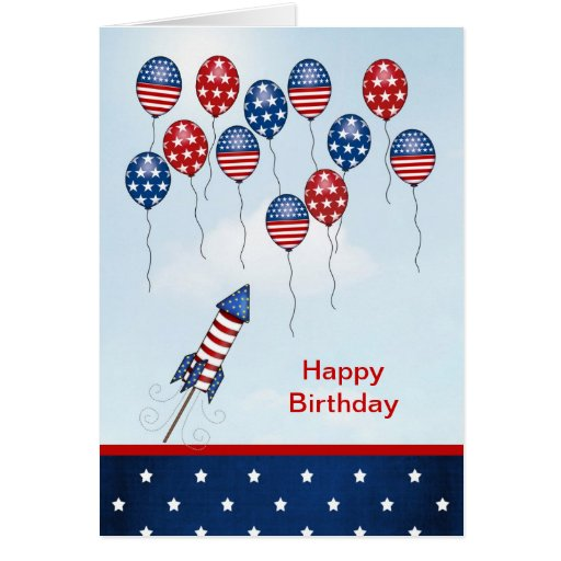 Born On The 4th Of July Cards Birthday 4th of...