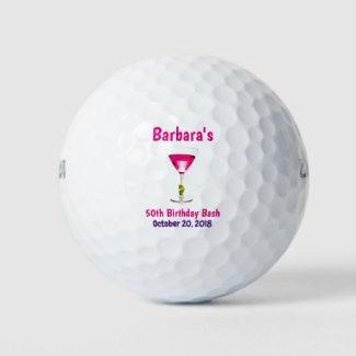 Birthday 50th or Milestone Party Favor Golf Balls