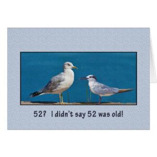 Birthday, 52nd, Humor, Gull and Tern Birds Card