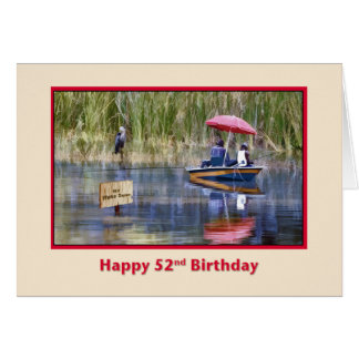 Birthday, 52nd, Two Fishermen at the Lake Card