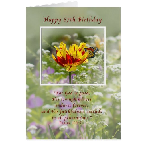 Birthday, 67th, Religious, Butterfly Cards