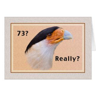 Birthday, 73rd, Crested Caracara Bird Greeting Cards