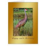 Birthday, 88th, Sandhill Crane Bird Greeting Card