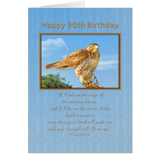 Birthday, 90th, Rough-legged Hawk Greeting Card
