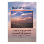 Birthday, 90th, Sunrise At The Beach, Religious Card at Zazzle