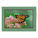 Birthday, 91st, Monarch Butterfly Card