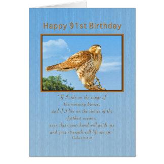 Birthday, 91st, Rough-legged Hawk Cards