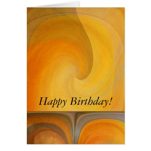 Birthday Abstract Orange Popsicles 2 Greeting Cards