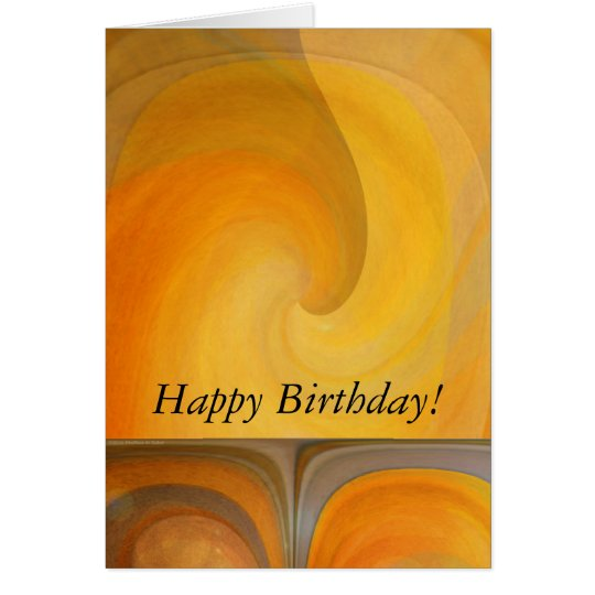 Birthday Abstract Orange Popsicles 2 Card