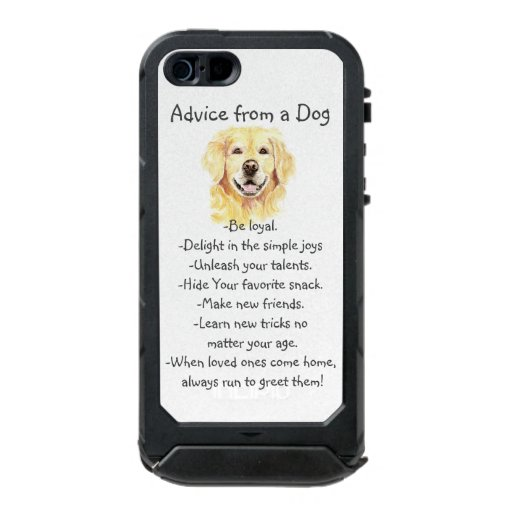 Birthday Advice from a Dog Fun Animal Humor Waterproof Case For iPhone SE/5/5s
